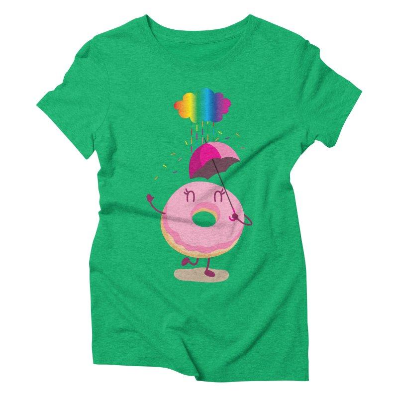 Rainbow Sugar Rain 2 Women's Triblend T-Shirt by hookeeak's Artist Shop