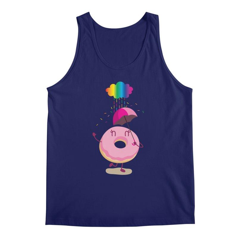 Rainbow Sugar Rain 2 Men's Tank by hookeeak's Artist Shop