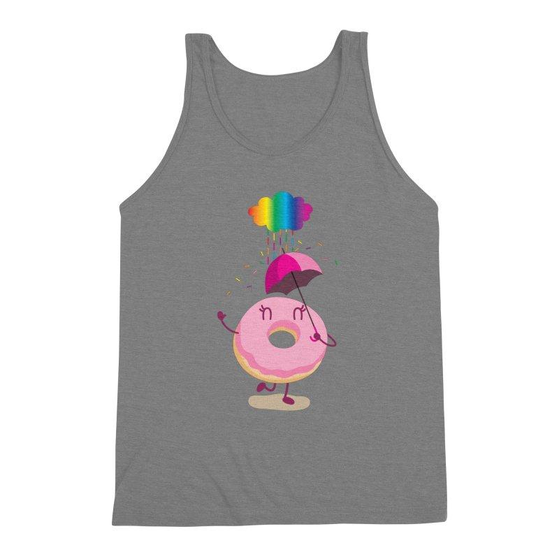 Rainbow Sugar Rain 2 Men's Triblend Tank by hookeeak's Artist Shop