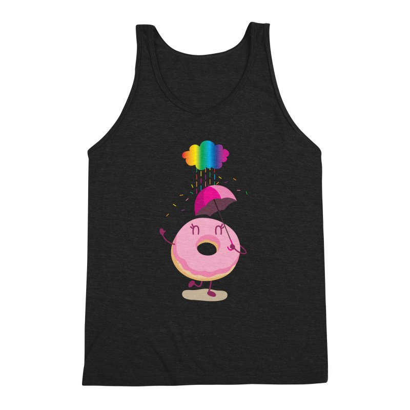 Rainbow Sugar Rain 2 Men's Triblend Tank by hookeeak's Artist Shop