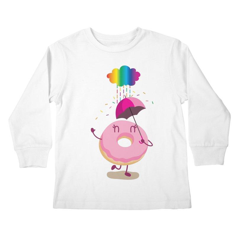 Rainbow Sugar Rain 2 Kids Longsleeve T-Shirt by hookeeak's Artist Shop