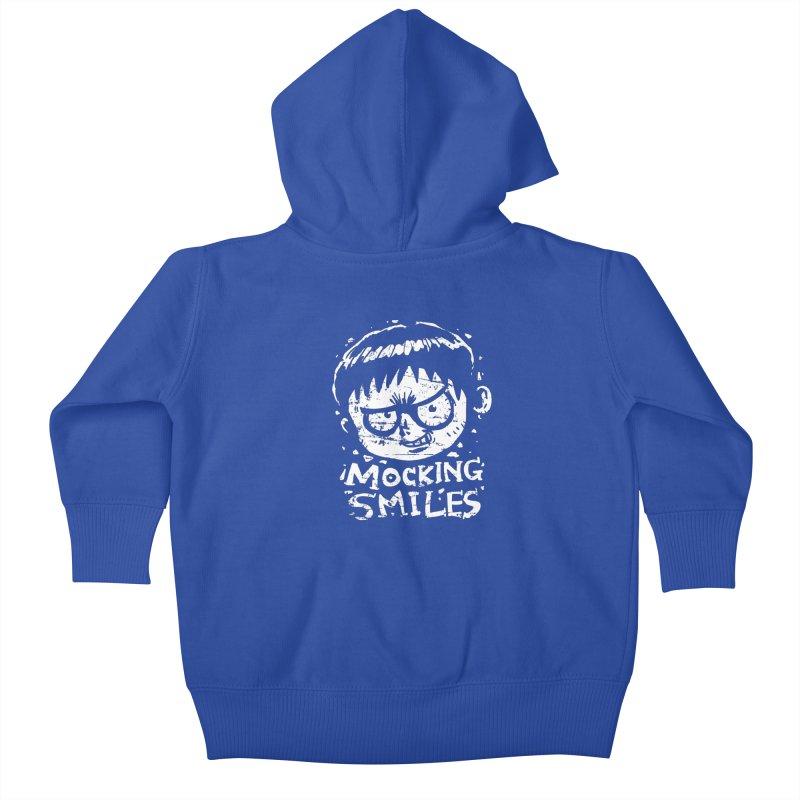Mocking Smiles Kids Baby Zip-Up Hoody by hookeeak's Artist Shop