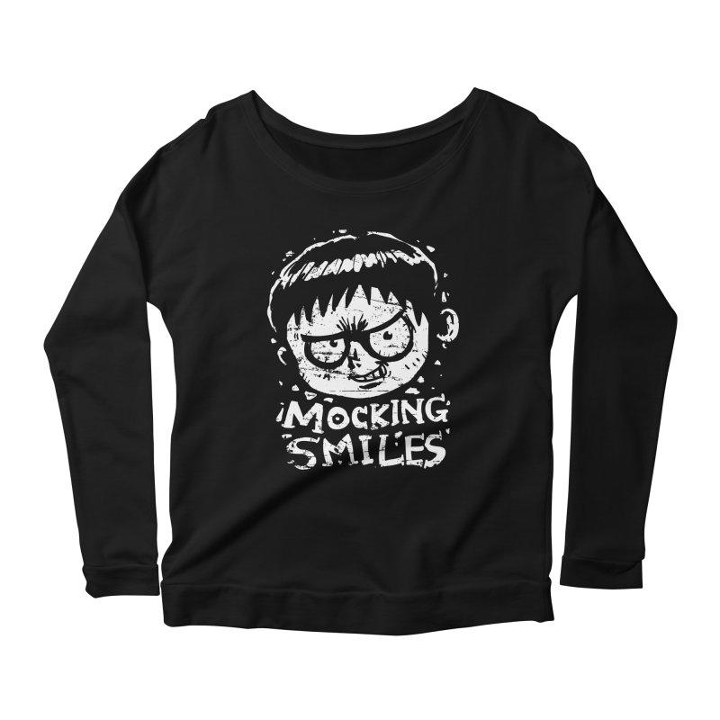 Mocking Smiles Women's Longsleeve Scoopneck  by hookeeak's Artist Shop
