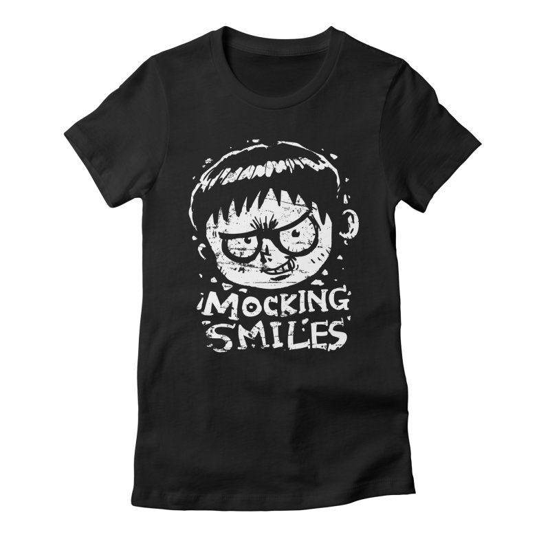 Mocking Smiles Women's Fitted T-Shirt by hookeeak's Artist Shop