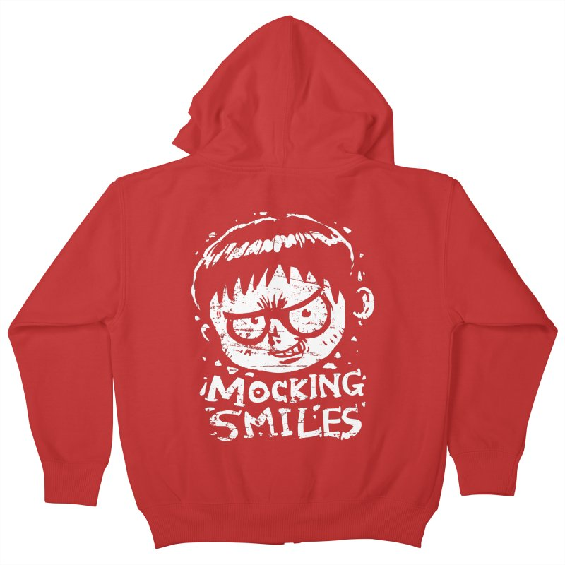 Mocking Smiles Kids Zip-Up Hoody by hookeeak's Artist Shop