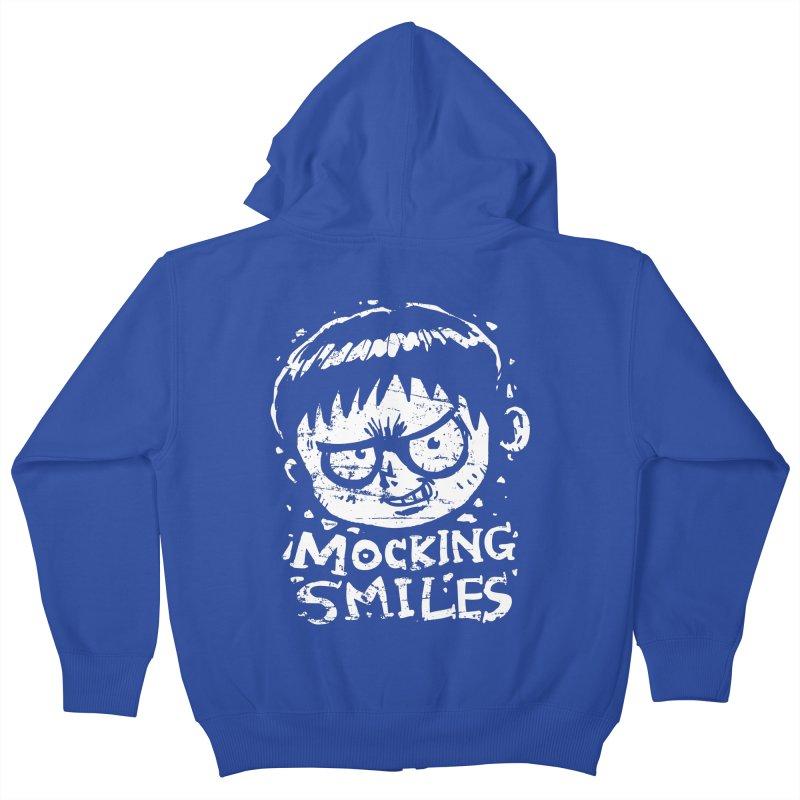 Mocking Smiles Kids Zip-Up Hoody by hookeeak's Artist Shop
