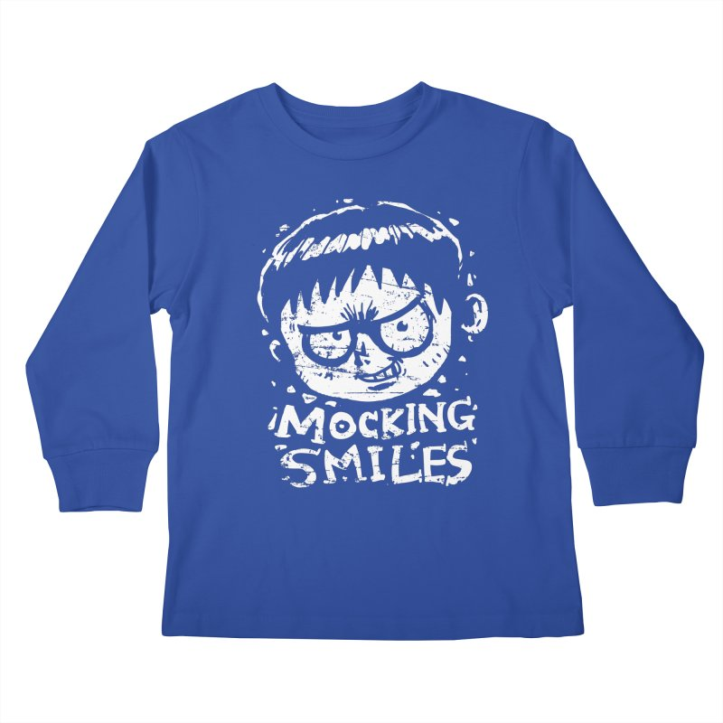 Mocking Smiles Kids Longsleeve T-Shirt by hookeeak's Artist Shop