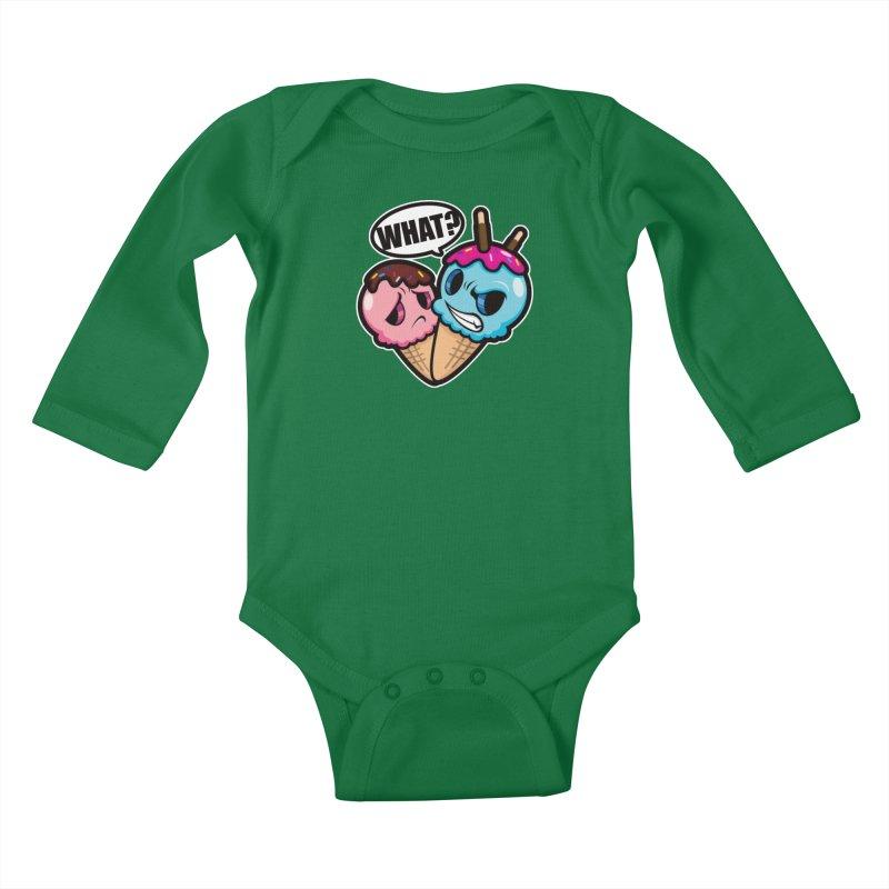 MONSCREAM Kids Baby Longsleeve Bodysuit by hookeeak's Artist Shop