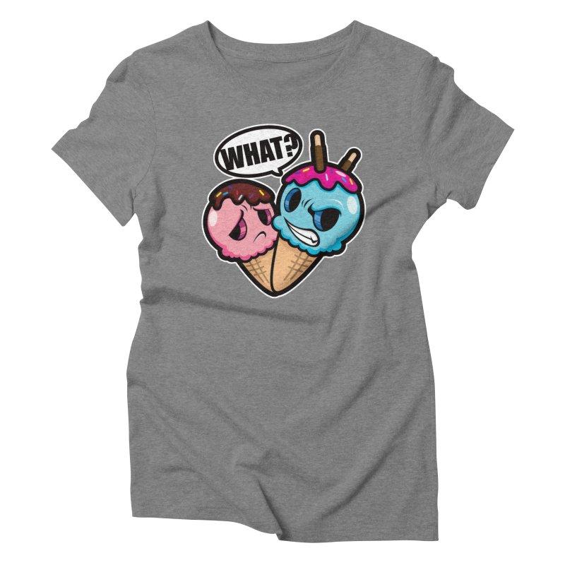 MONSCREAM Women's Triblend T-shirt by hookeeak's Artist Shop