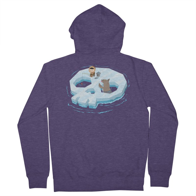 Ice Skull Men's Zip-Up Hoody by hookeeak's Artist Shop