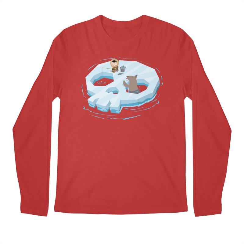 Ice Skull Men's Longsleeve T-Shirt by hookeeak's Artist Shop