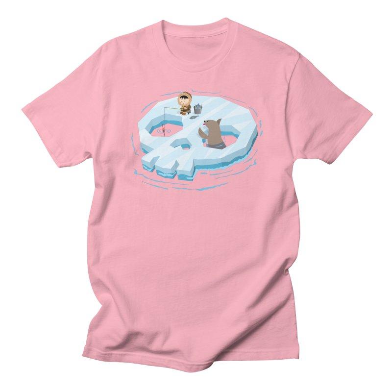 Ice Skull Men's T-Shirt by hookeeak's Artist Shop