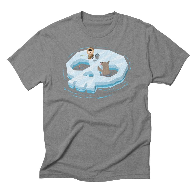 Ice Skull Men's Triblend T-Shirt by hookeeak's Artist Shop