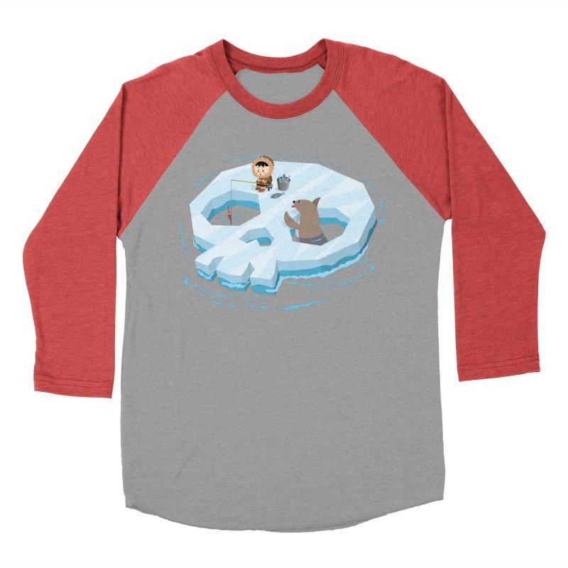 Ice Skull Men's Baseball Triblend T-Shirt by hookeeak's Artist Shop