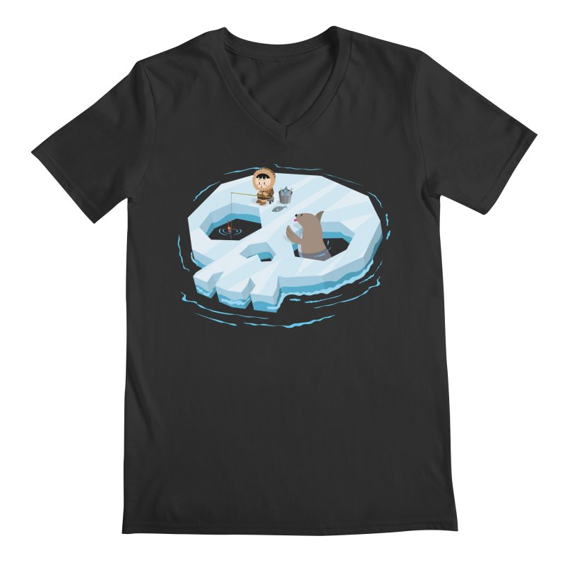 Ice Skull Men's V-Neck by hookeeak's Artist Shop