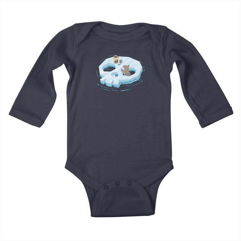 Ice Skull Kids Baby Longsleeve Bodysuit by hookeeak's Artist Shop