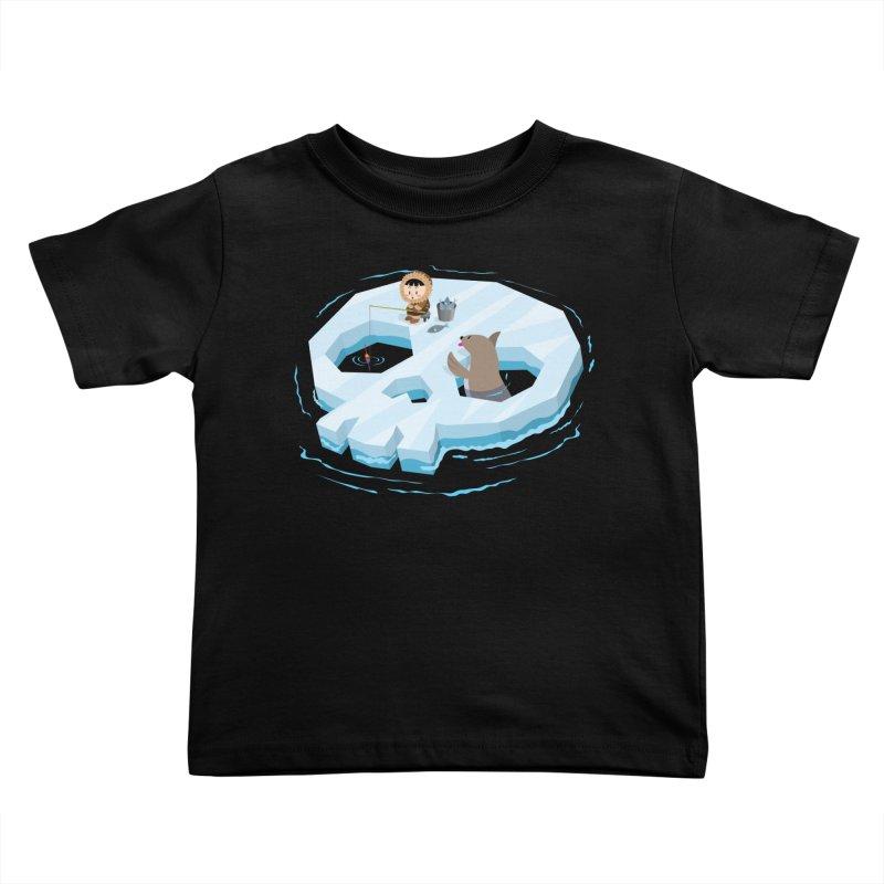 Ice Skull Kids Toddler T-Shirt by hookeeak's Artist Shop