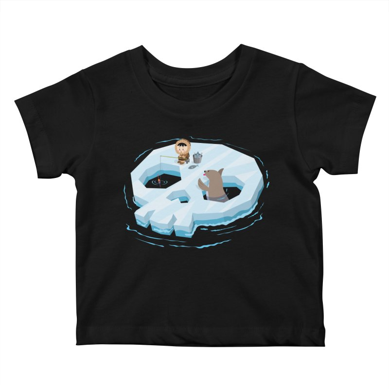 Ice Skull Kids Baby T-Shirt by hookeeak's Artist Shop