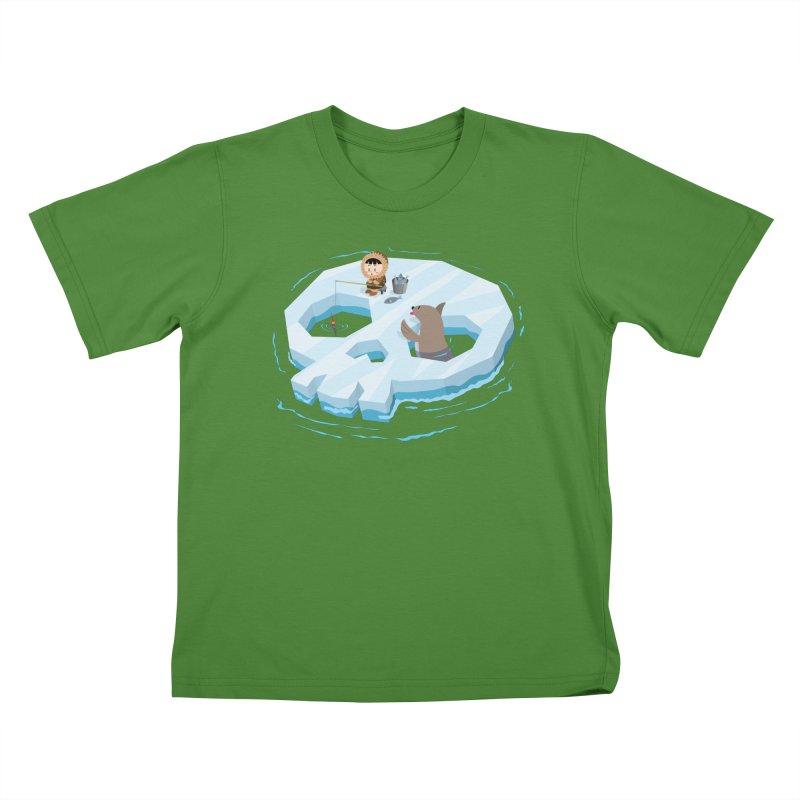 Ice Skull Kids T-shirt by hookeeak's Artist Shop