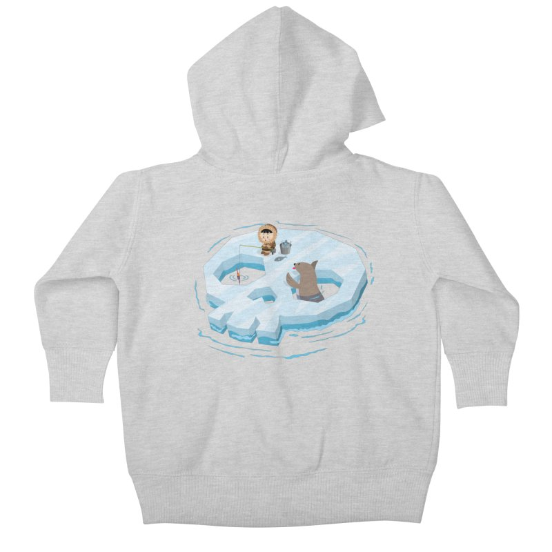 Ice Skull Kids Baby Zip-Up Hoody by hookeeak's Artist Shop