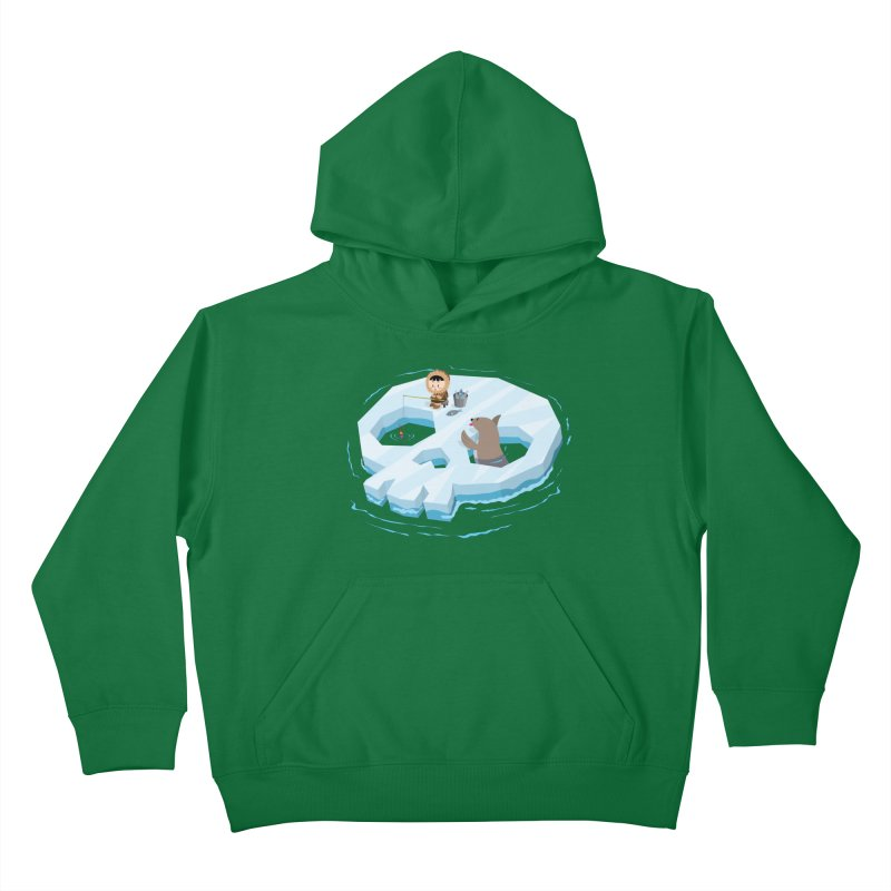 Ice Skull Kids Pullover Hoody by hookeeak's Artist Shop