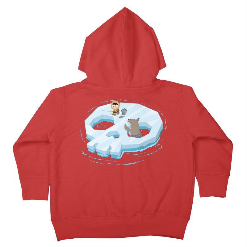 Ice Skull Kids Toddler Zip-Up Hoody by hookeeak's Artist Shop