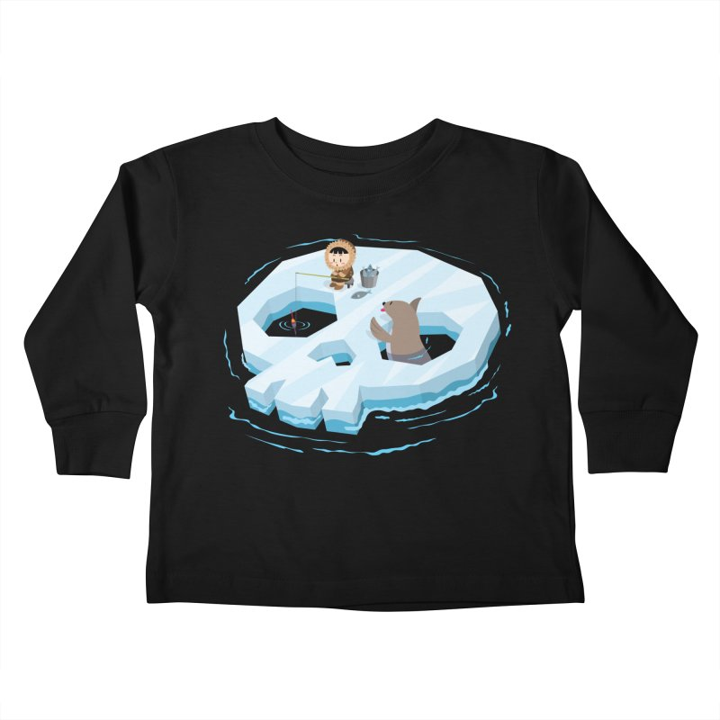 Ice Skull Kids Toddler Longsleeve T-Shirt by hookeeak's Artist Shop