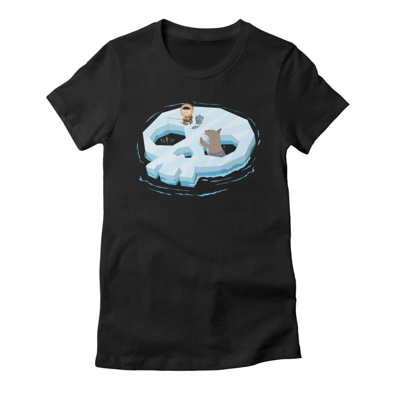 Ice Skull Women's Fitted T-Shirt by hookeeak's Artist Shop