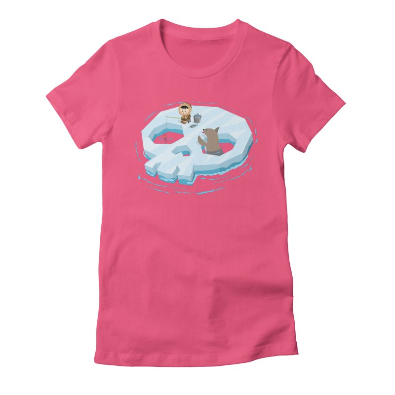 Ice Skull Women's Fitted T-Shirt by hookeeak's Artist Shop