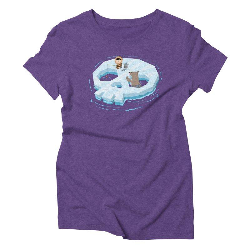 Ice Skull Women's Triblend T-Shirt by hookeeak's Artist Shop