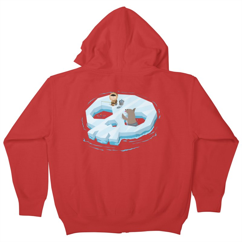 Ice Skull Kids Zip-Up Hoody by hookeeak's Artist Shop