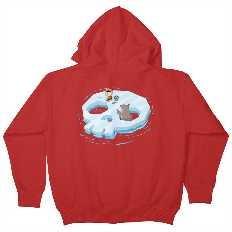 Ice Skull Kids Zip-Up Hoody by hookeeak's Artist Shop