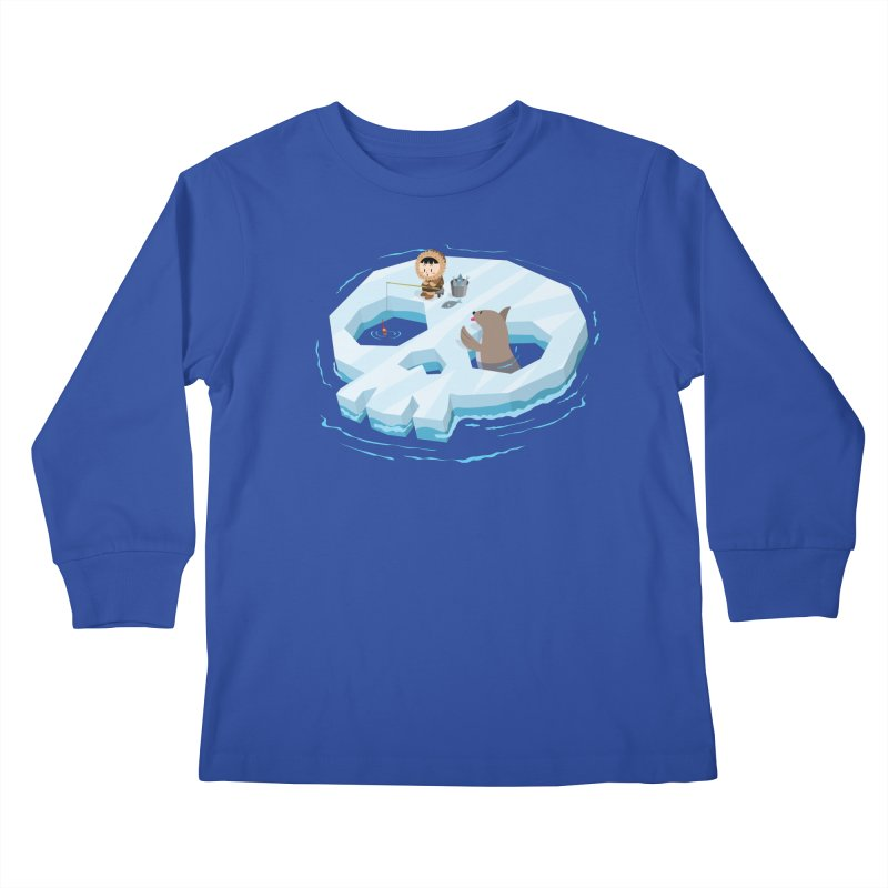 Ice Skull Kids Longsleeve T-Shirt by hookeeak's Artist Shop