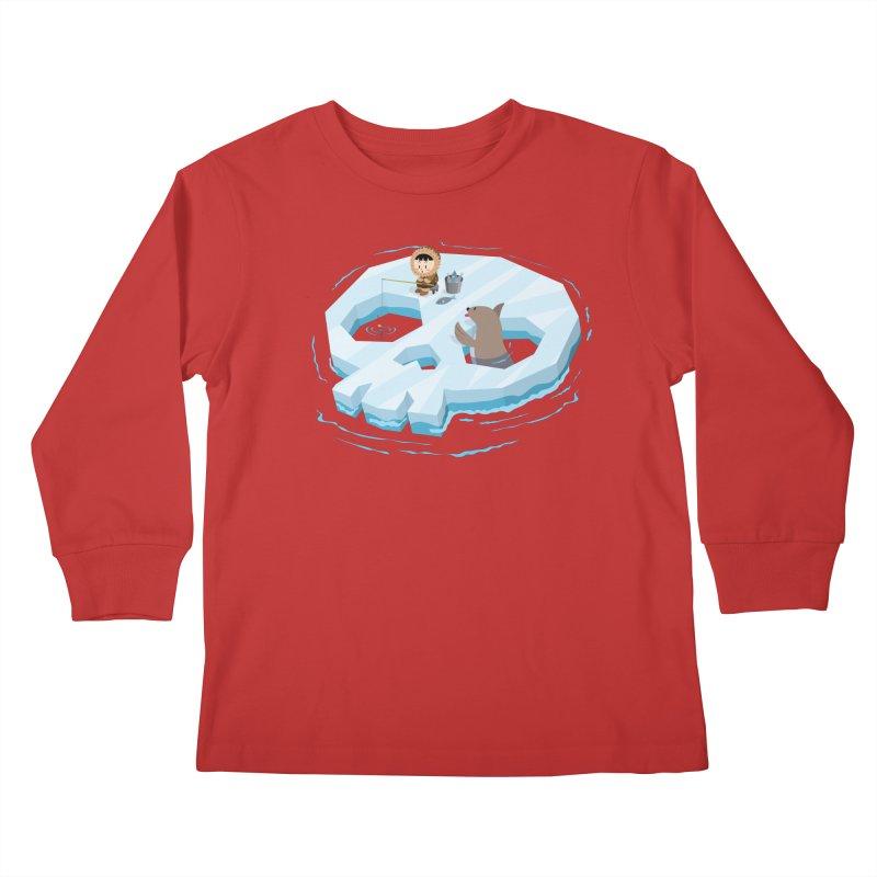 Ice Skull Kids Longsleeve T-Shirt by hookeeak's Artist Shop