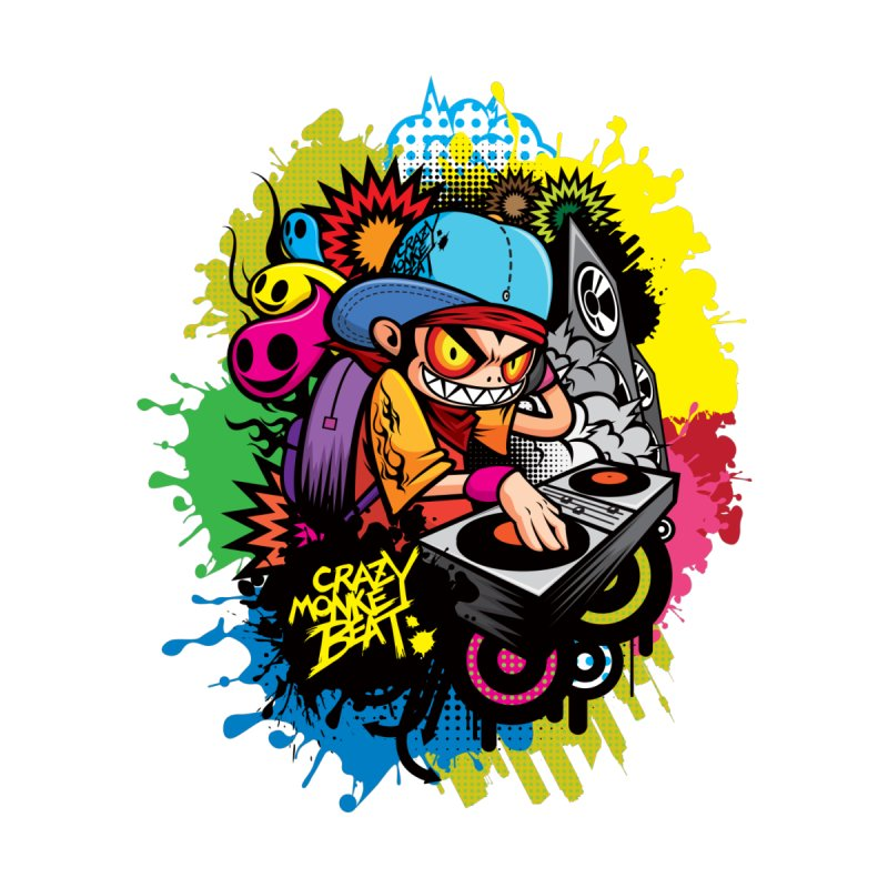CRAZY MONKEY BEAT 2 by hookeeak's Artist Shop