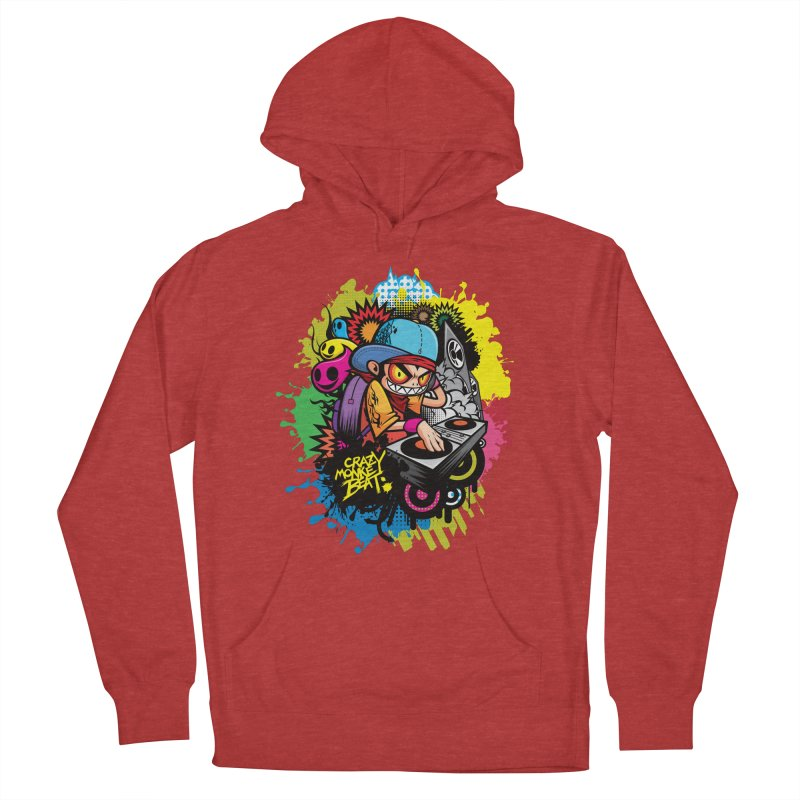 CRAZY MONKEY BEAT 2 Women's Pullover Hoody by hookeeak's Artist Shop
