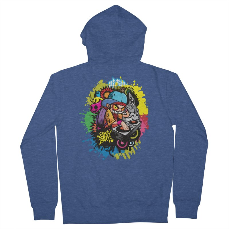 CRAZY MONKEY BEAT 2 Men's Zip-Up Hoody by hookeeak's Artist Shop