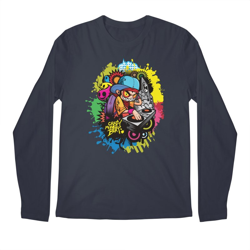 CRAZY MONKEY BEAT 2 Men's Longsleeve T-Shirt by hookeeak's Artist Shop