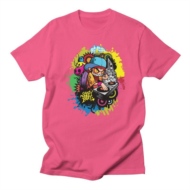 CRAZY MONKEY BEAT 2 Men's T-Shirt by hookeeak's Artist Shop