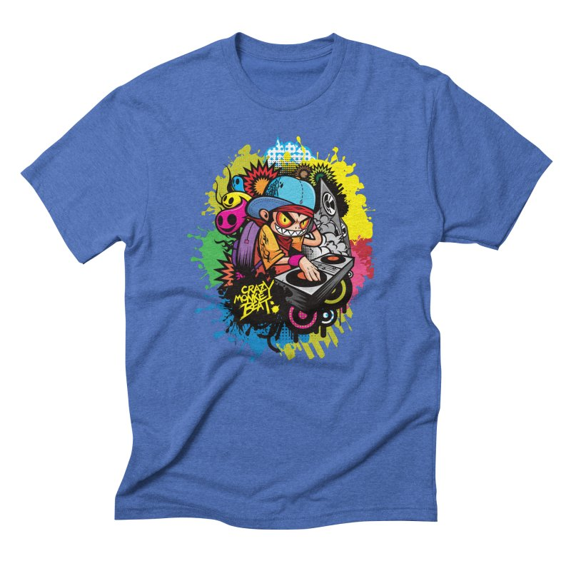 CRAZY MONKEY BEAT 2 Men's Triblend T-Shirt by hookeeak's Artist Shop