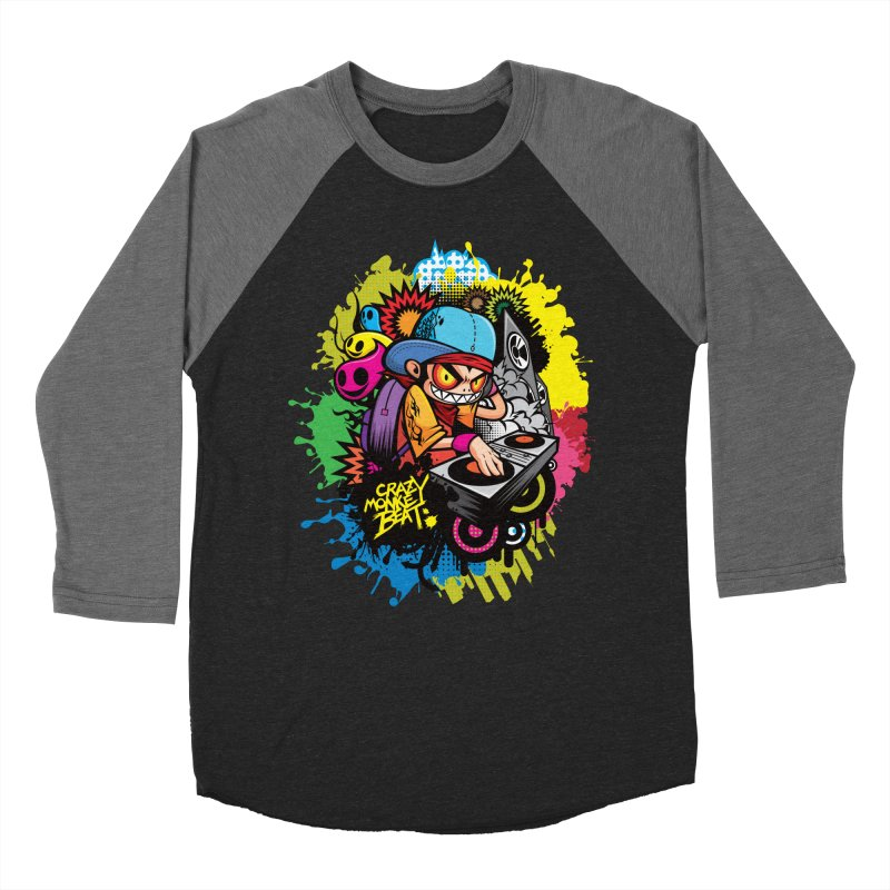 CRAZY MONKEY BEAT 2 Men's Baseball Triblend T-Shirt by hookeeak's Artist Shop