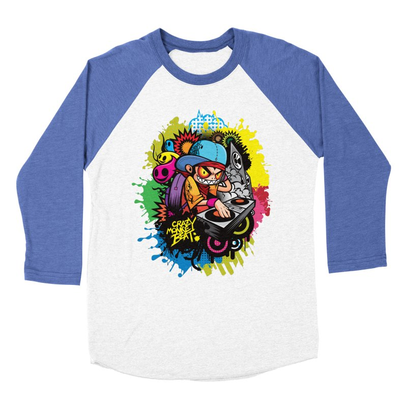 CRAZY MONKEY BEAT 2 Men's Baseball Triblend T-Shirt by hookeeak's Artist Shop