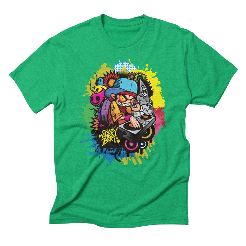 CRAZY MONKEY BEAT 2 Men's Triblend T-shirt by hookeeak's Artist Shop