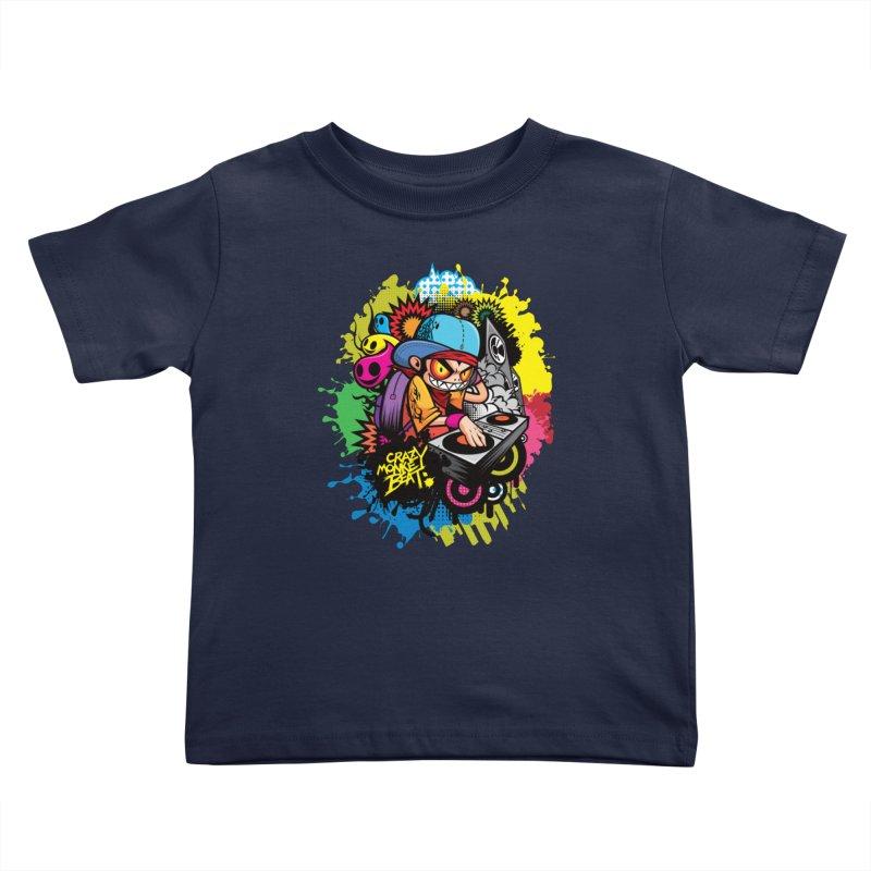 CRAZY MONKEY BEAT 2 Kids Toddler T-Shirt by hookeeak's Artist Shop