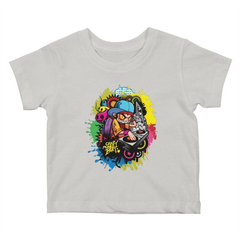 CRAZY MONKEY BEAT 2 Kids Baby T-Shirt by hookeeak's Artist Shop