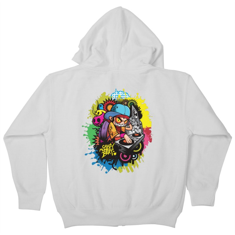 CRAZY MONKEY BEAT 2 Kids Zip-Up Hoody by hookeeak's Artist Shop