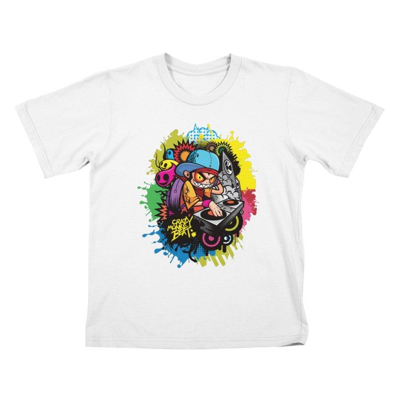 CRAZY MONKEY BEAT 2 Kids T-Shirt by hookeeak's Artist Shop