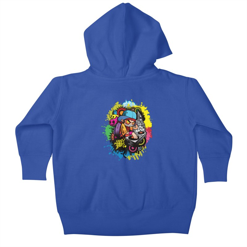CRAZY MONKEY BEAT 2 Kids Baby Zip-Up Hoody by hookeeak's Artist Shop