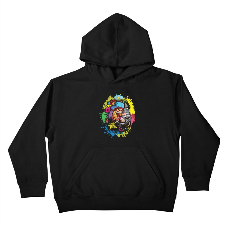 CRAZY MONKEY BEAT 2 Kids Pullover Hoody by hookeeak's Artist Shop