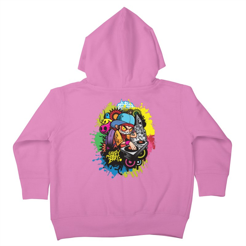 CRAZY MONKEY BEAT 2 Kids Toddler Zip-Up Hoody by hookeeak's Artist Shop